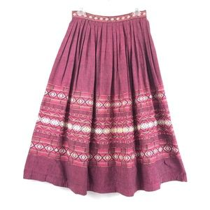 VINTAGE Guatemalan Handwoven Fabric Full Skirt
